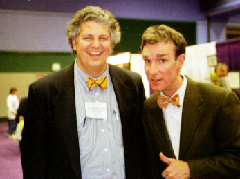 Dan Waterloo giving Bill Nye, 'The Science Guy', some tips on how to use spice