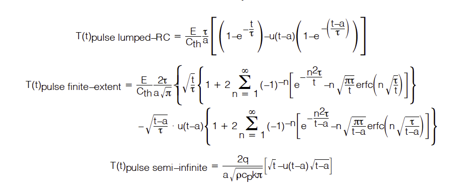 Simplifed RC equations for thermal model